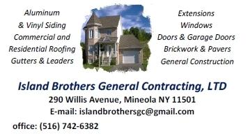 Image of Island Brothers General Contracting Business Card
